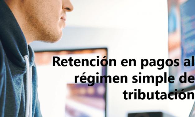 ¿Qué retención practicar al Régimen simple de tributación?