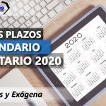 Calendario Tributario 2020 Nuevos plazos