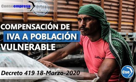 Compensación de IVA a la población vulnerable