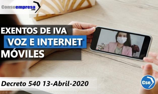 Voz e internet móvil exentos de IVA por covid19